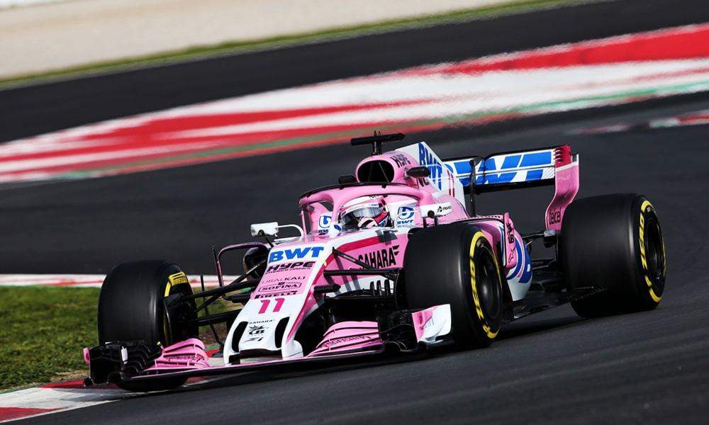 Sergio Perez Force India 2018 Barcelona