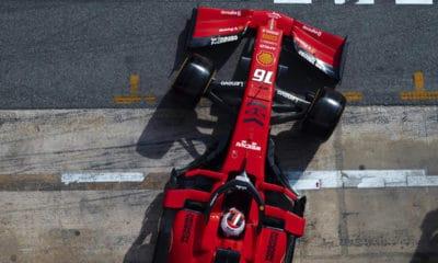 Charles Leclerc testy 2019 scuderia ferrari