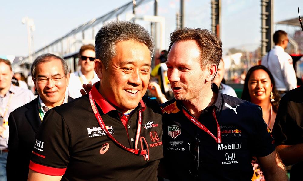 Masashi Yamamoto i Christian Horner