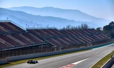 f1 mercedes w10 barcelona testy