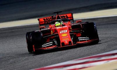 Mick Schumacher 2019 Bahrajn Testy Pirelli F1 Ferrari