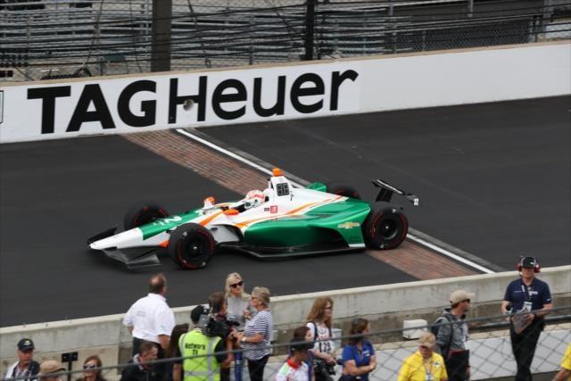 Kyle Keiser podczas kwalifikacji do Indianapolis 500