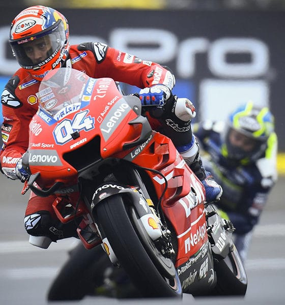 Andrea Dovizioso podczas Grand Prix Francji 2019
