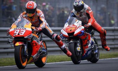 Marc Marquez i Jack Miller podczas GP Francji 2019