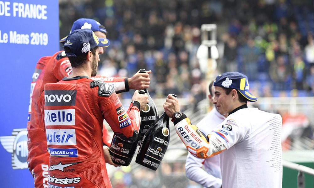 Podium wyścigu MotoGP o GP Francji