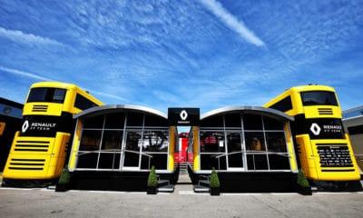 Renault f1 team motorhome pozostałe opcje zespołu
