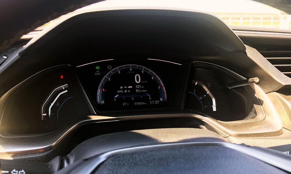 Honda Civic - zegary