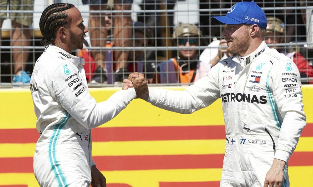 Lewis Hamilton i Valtteri Bottas - kwalifikacje do wyścigu o GP Francji 2019
