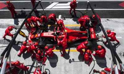 Ferrari Pit stop Charlesa Leclerka - Kanada 2019