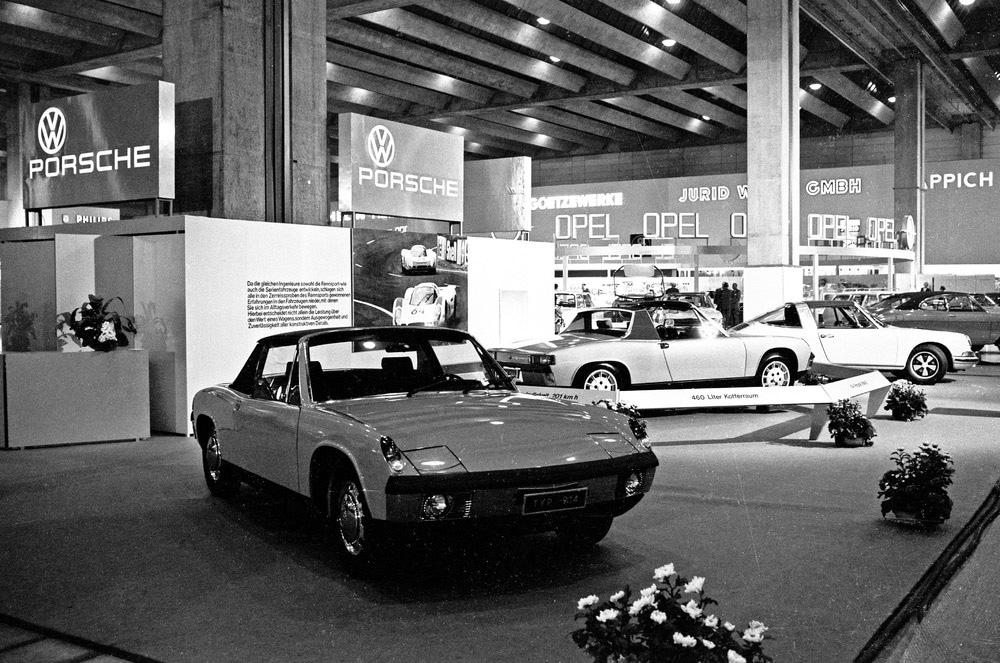 914/4 (z lewej) i 914/6 na International Motor Show we Frankfurcie w 1969 r.