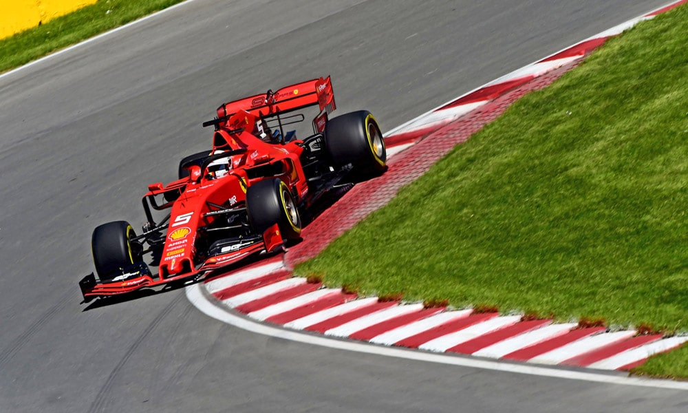Sebastian Vettel - Kanada 2019 hamulce w f1