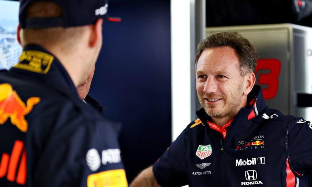 Christian Horner i Max Verstappen - Monaco 2019