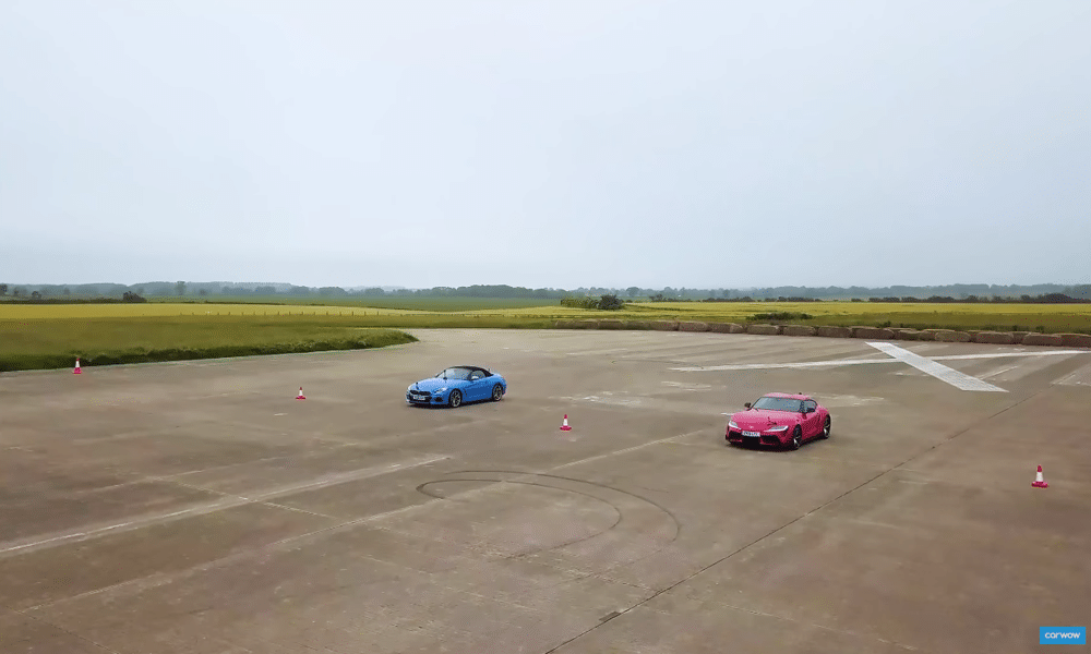 Toyota Supra vs BMW Z4 M40i - drag race