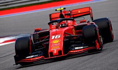 Charles Leclerc Pole Position GP Rosji 2019