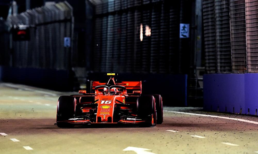 Charles Leclerc GP Singpauru 2019 kwalifikacje Ferrari