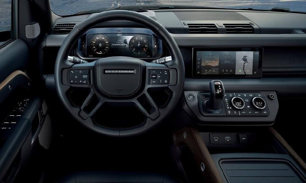 Land Rover Defender -wnętrze