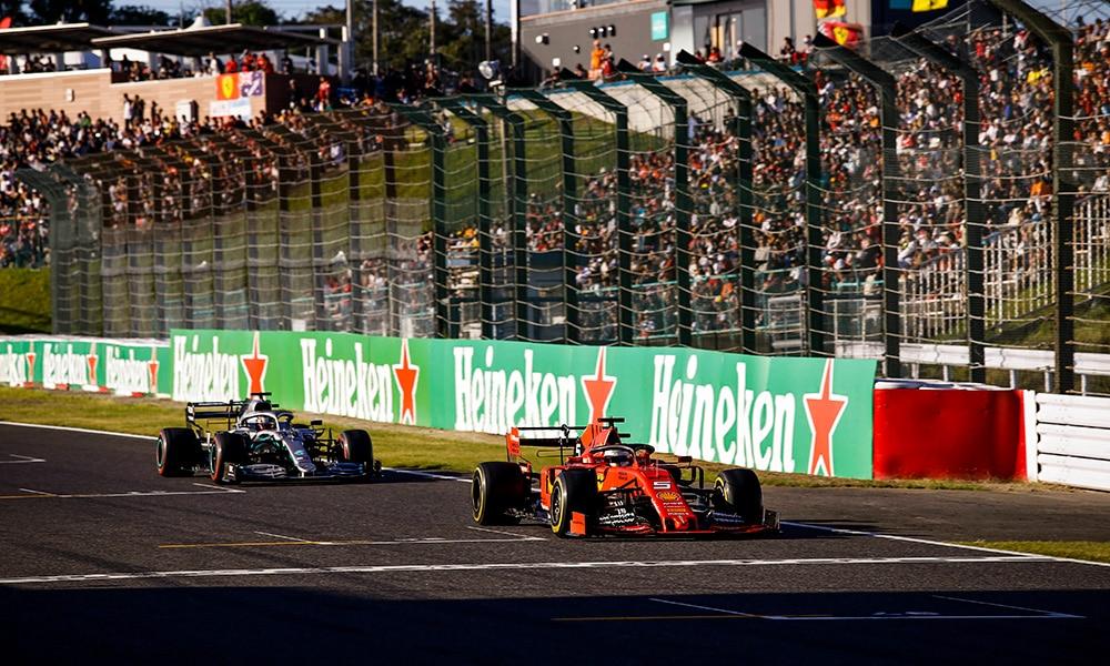 Hamilton vs Vettel 2019 GP Japonii odwołane wyścigi 2020