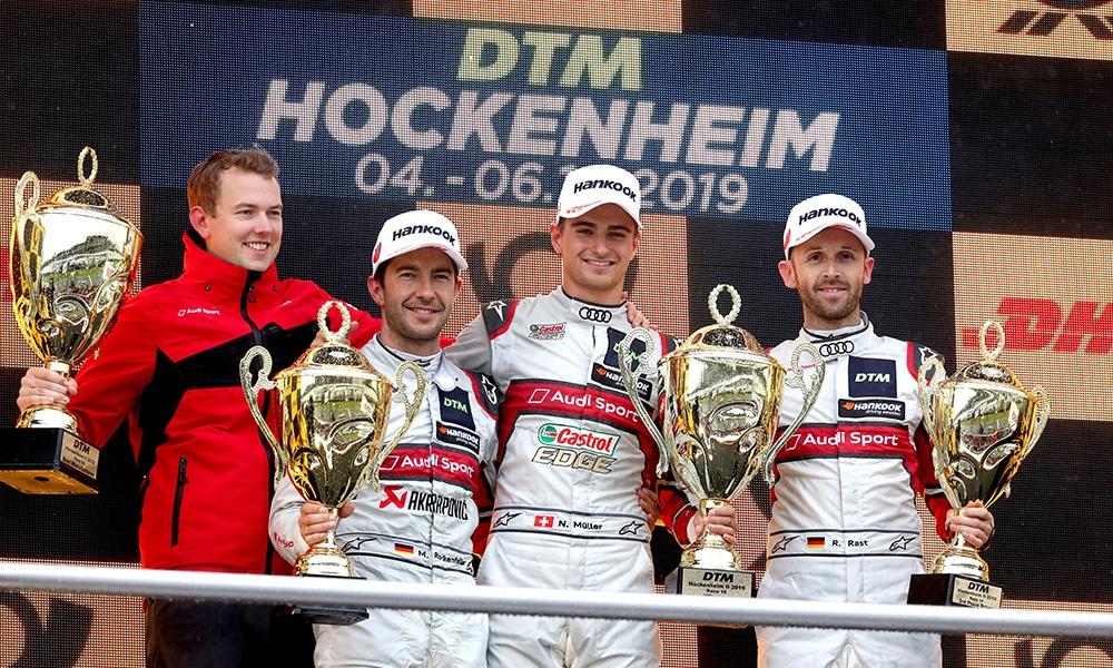 Hockenheim Finale podium wyścig 2 2019 DTM