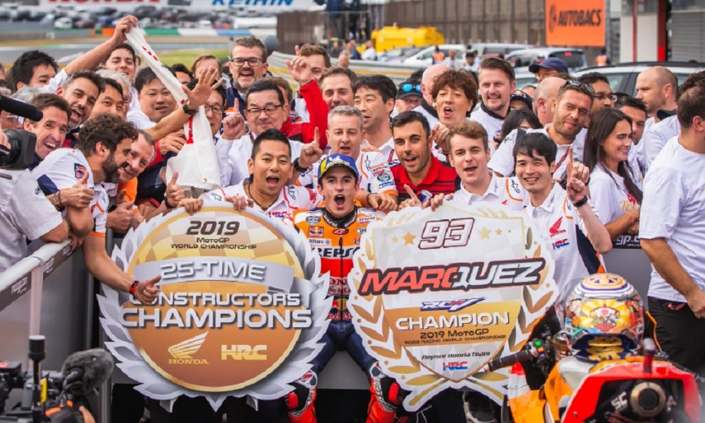 Honda Marc Marquez tytuły 2019 GP Japonii MotoGP