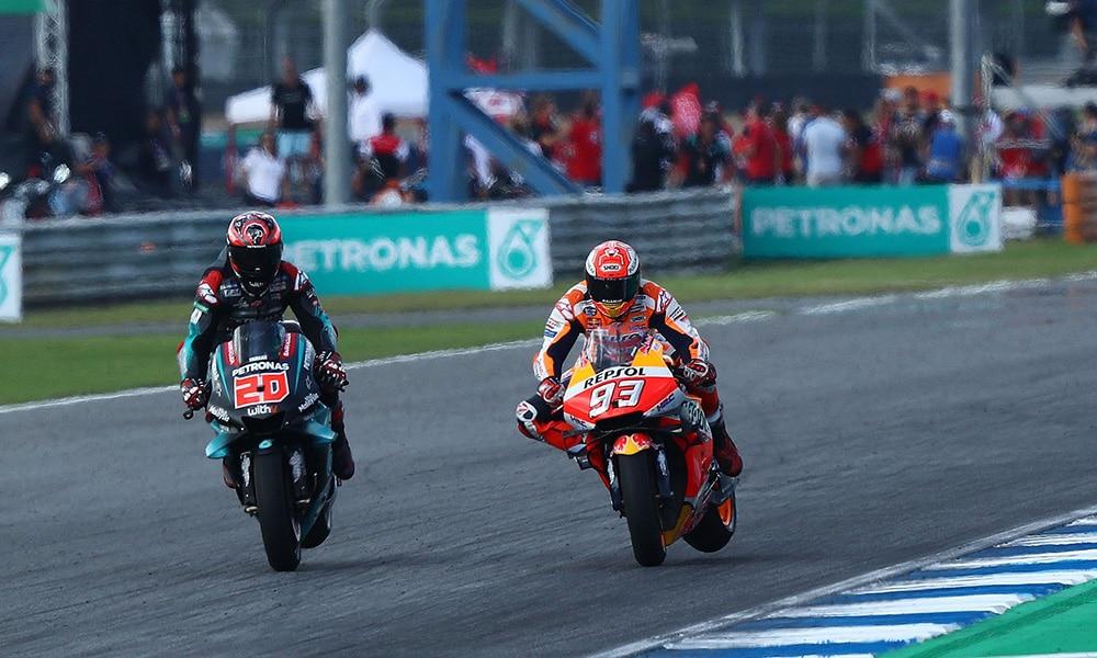 Marc Marquez Fabio Quaratararo Honda Yamaha 2019 GP Tajlandii