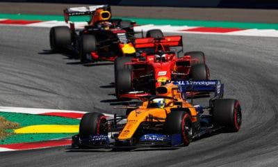 McLaren Ferrari Red Bull Austria GP 2019