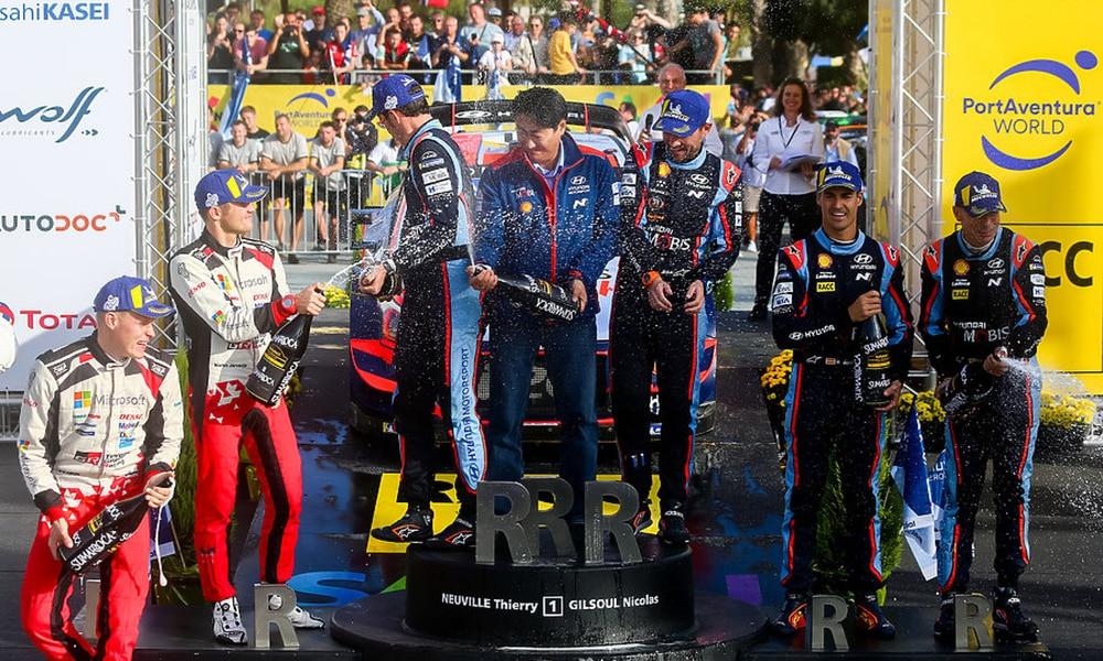 Rajd Katalonii podium 2019 Hyundai