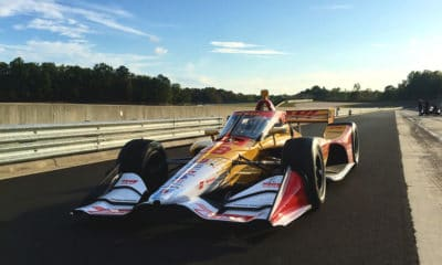 Aeroscreen 2019 Ryan Hunter-Reay IndyCar test Barber Motorsports Park
