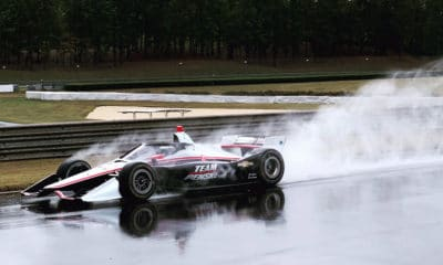 Aeroscreen wet test IndyCar 2019 2020 Simon Pagenaud IndyCar