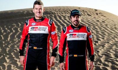 Fernando Alonso i Marc Coma - jedna z załóg Toyoty w Rajdzie Dakar 2020