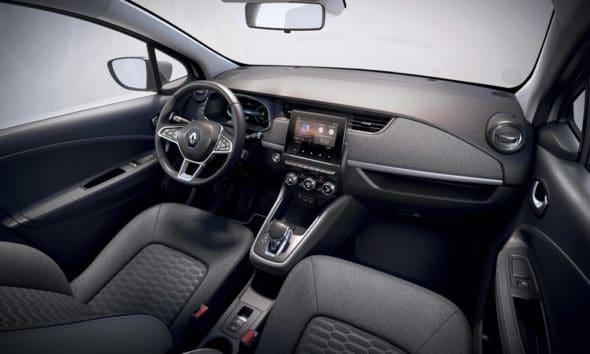 Renault Zoe (B10) - tapicerka wykonana w 100% z materiałów pochodzących z recyklingu