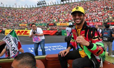 Daniel Ricciardo podczas GP Meksyku 2019