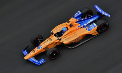Fernando Alonso podczas INdy 500 w 2019 r.