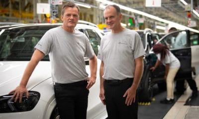 Pracownicy fabryki Mercedes