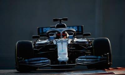 George Russell Test Abu Zabi 2019 Pirelli W10 Mercedes
