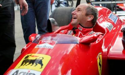 Gerhard Berger w bolidzie Ferrari GP Austrii 2014