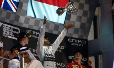 Lewis Hamilton Mercedes GP Abu Zabi 2019 podium