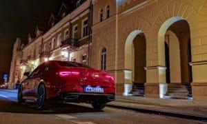 Mercedes CLA 220 tył noc 2