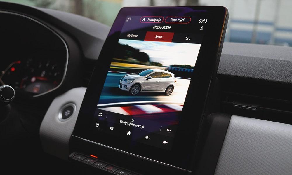Renault Clio V wnętrze multimedia 1