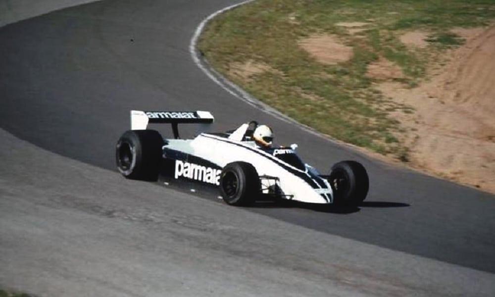 Rick Mears Brabham testy F1 Riverside