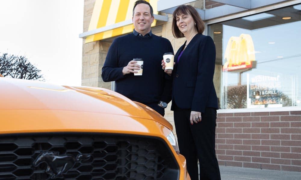 Ford McDonald's odpady kawowe
