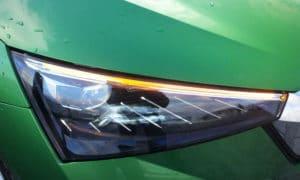 Škoda Scala przedni reflektor