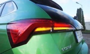 Škoda Scala tylny reflektor