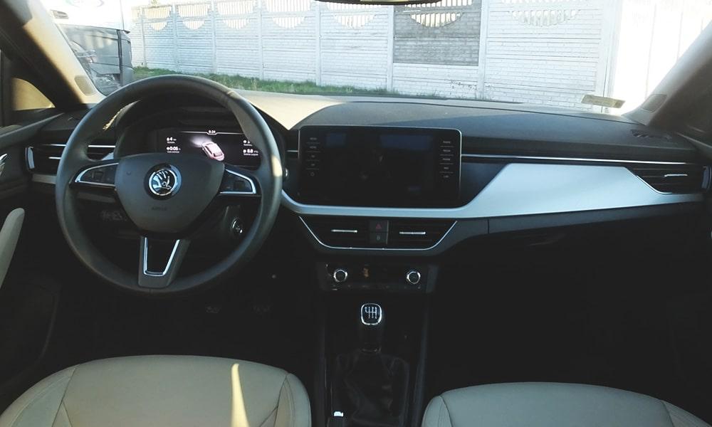 Škoda Scala wnętrze 2