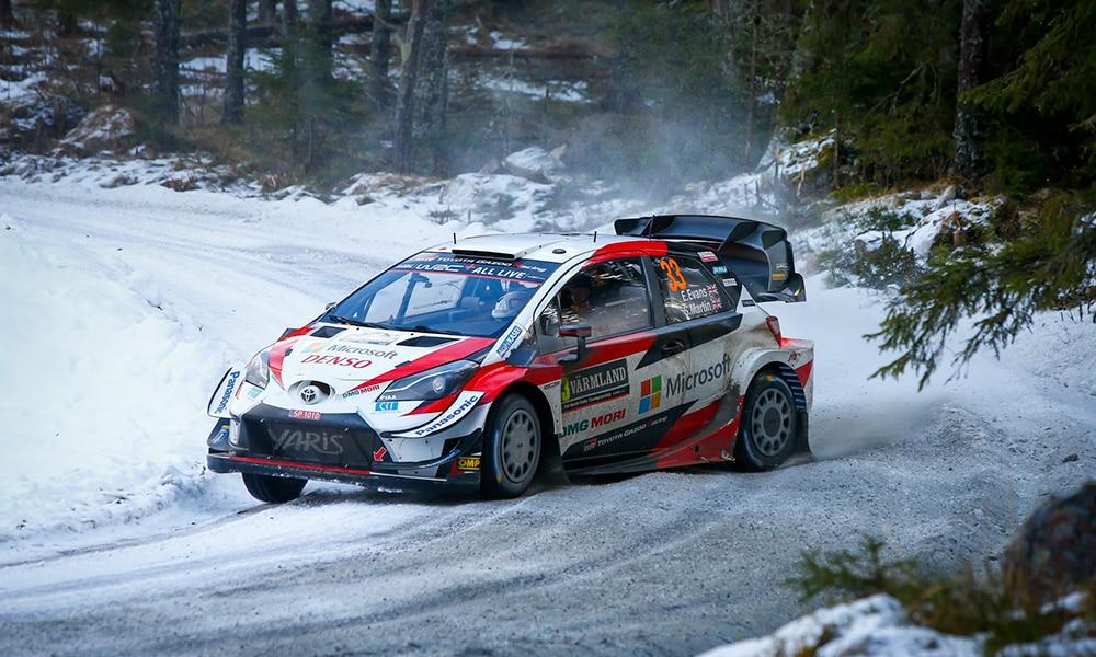 Elfyn Evans Rajd Szwecji 2020 Toyota WRC