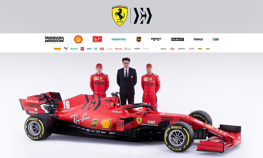 Ferrari SF1000 Vettel Binotto Leclerc