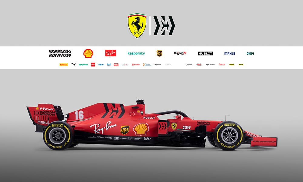 Ferrari SF1000 bolid bok