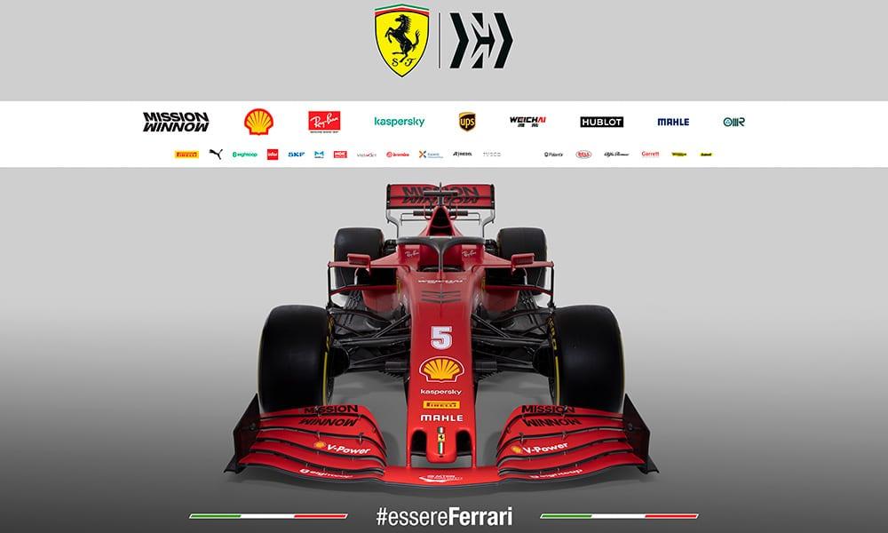 Ferrari SF1000 bolid przód profil