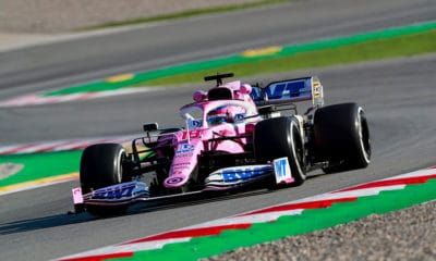 Lance Stroll Racing Point RP20 Barcelona testy 2020