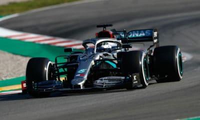 Valtteri Bottas 2020 Testy Barcelona 2020 Mercedes W11 I tura