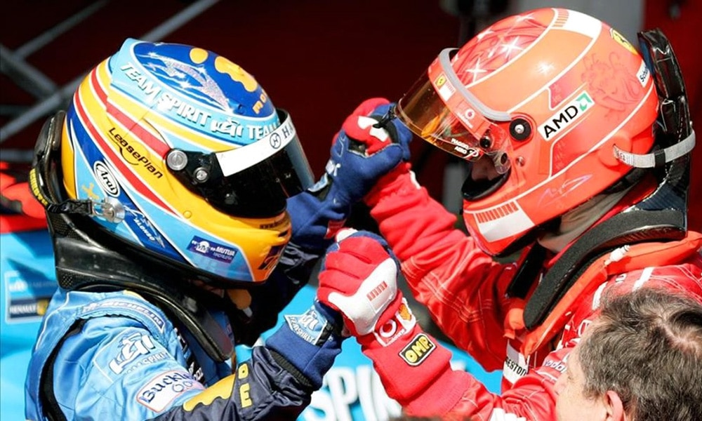 Alonso Fernando Schumacher Michael 2006 F1